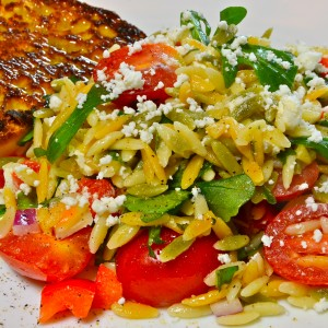 Orzo Salad with Goat Cheese and Pine Nuts