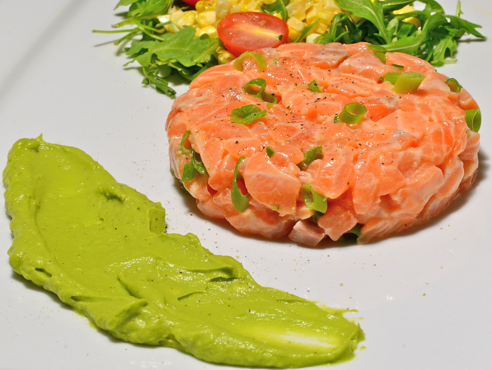 Salmon Tartare Avocado Wasabi Salmon Tartare With a Avocado