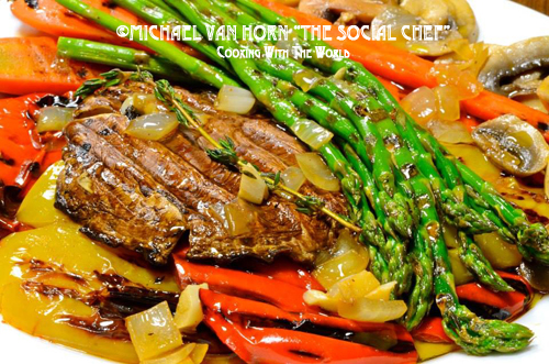 Home » Grilled Vegetables Sautéed in Vegetable Broth, Thyme and ...