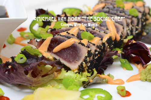 Seared Ahi Tuna Sauce Seared ahi tuna with creamy